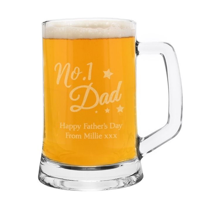 Personalised Nostalgia Pint Beer Glass Tankard NEW Birthday Father's Day Pint