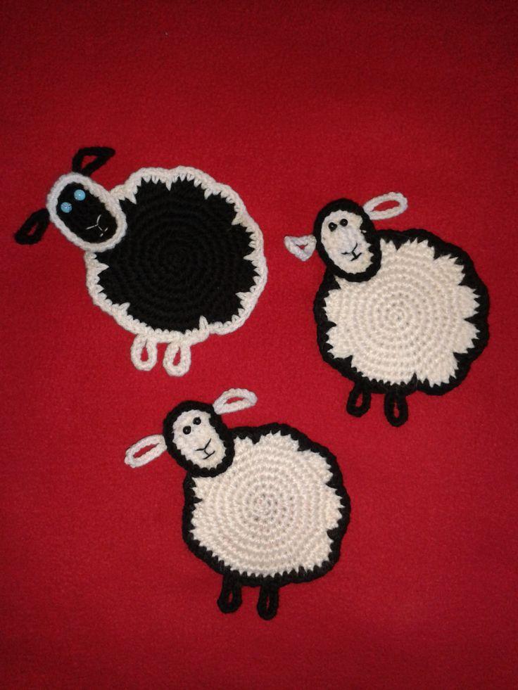 Koyun,bardak altı,el işi,tığ işi,kolay,ucuz,hediyelik