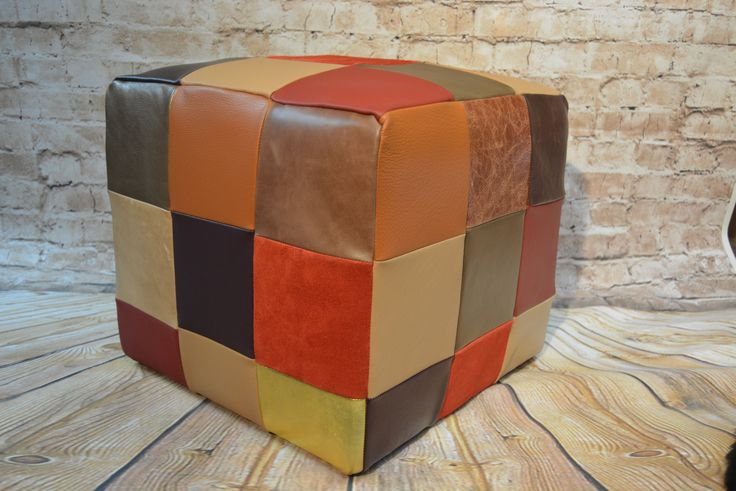 Leather stool by custom order