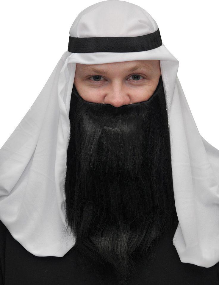 costume accessory: full beard and mustache   black