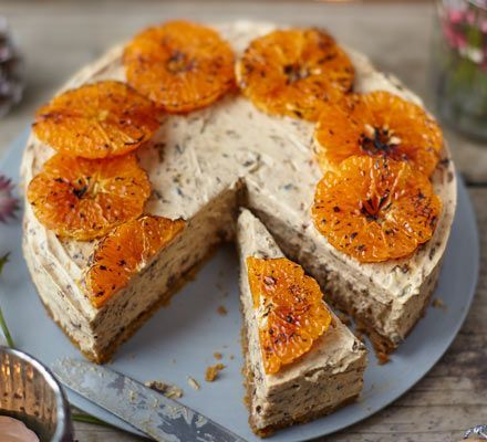 Cross a Christmas pudding with a cheesecake and what do you get? A fantastic alternative festive dessert with a crunchy ginger base and creamy filling