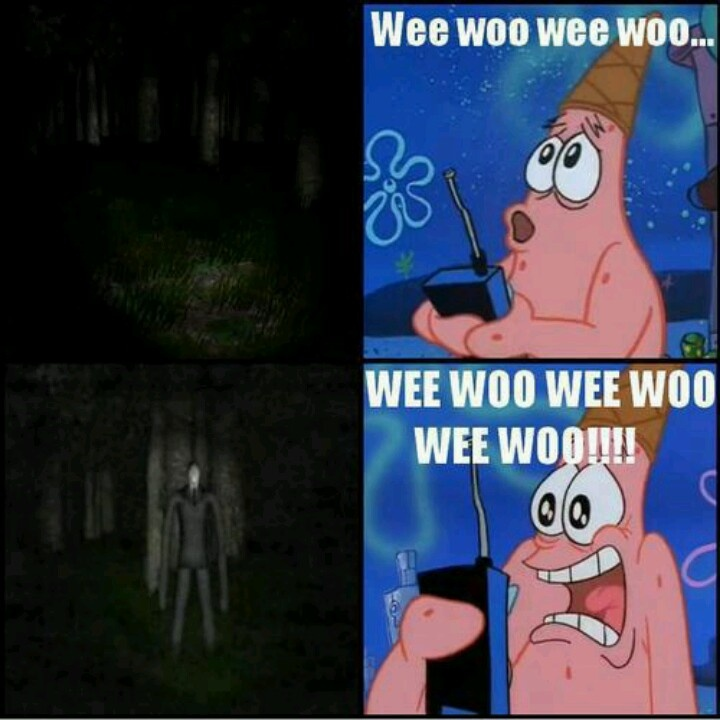 Slender man..... Hahaha :)