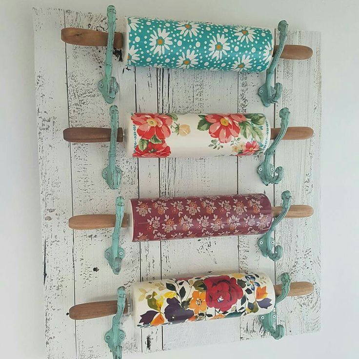Use hooks to hold rolling pins.  Pioneer Woman,  kitchen,  hooks,  barnwood