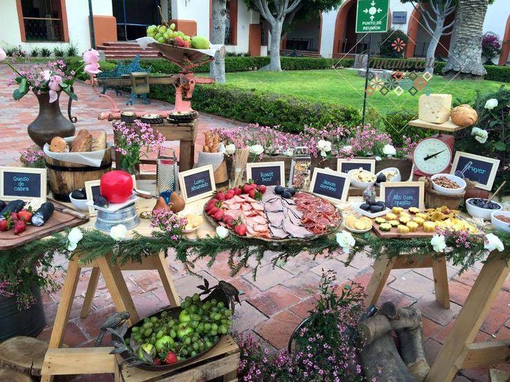 Buffet Rustico Matrimonio : Mesa de quesos gourmet eventos boda recepción