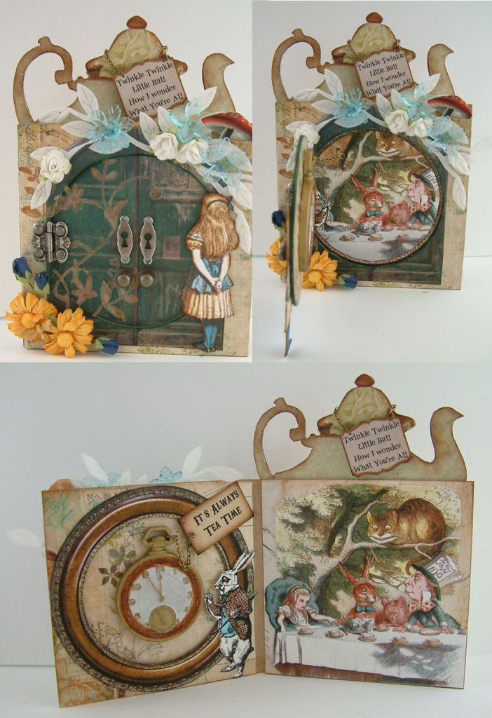 """Tea Time Peek-a-boo Card - To see more of my art, download free images, and learn new techniques checkout my Blog """"Artfully Musing"""" at http://artfullymusing.blogspot.com"""