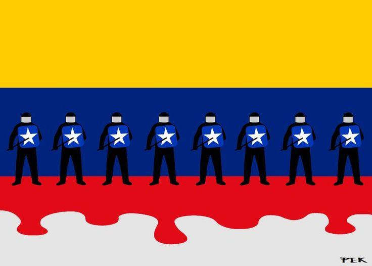 The (New) Venezuelan Flag - blood on the tracks