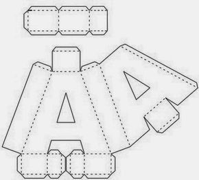 Olá pessoal   Um presente para todos os apaixonados pelas artes...   Deixo aqui o alfabeto 3D, mesmo sem as máquinas cricut ou silhouette,...
