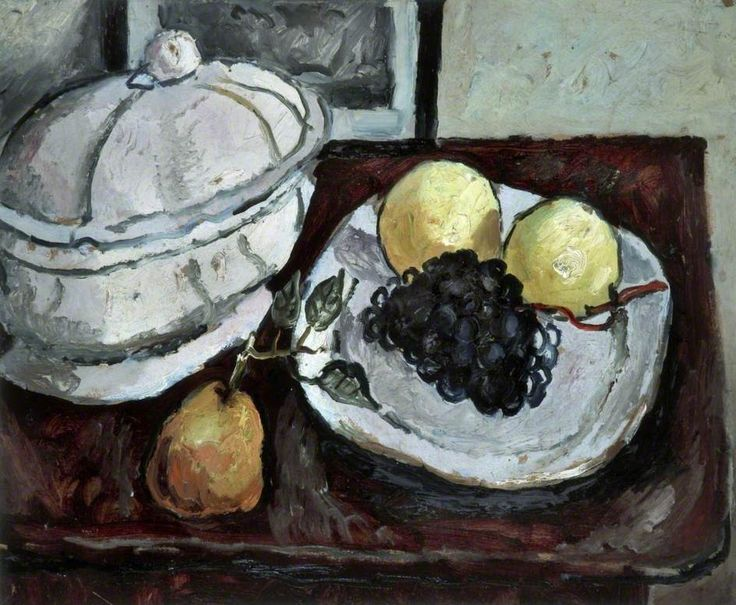Still Life with a Tureen and Fruit (1925) by Christopher Wood, Walker Art Gallery, Liverpool