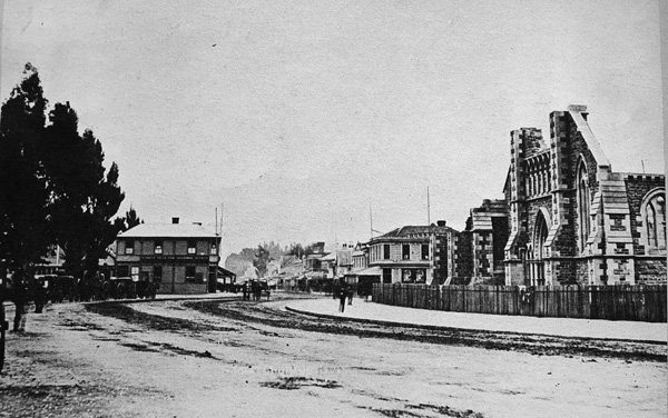 Christchurch Cathedral, half finished in 1879