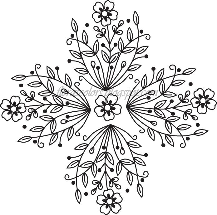 Free Hand Embroidery Flowers Patterns | Flora's Colors: Free Hand Embroidery…