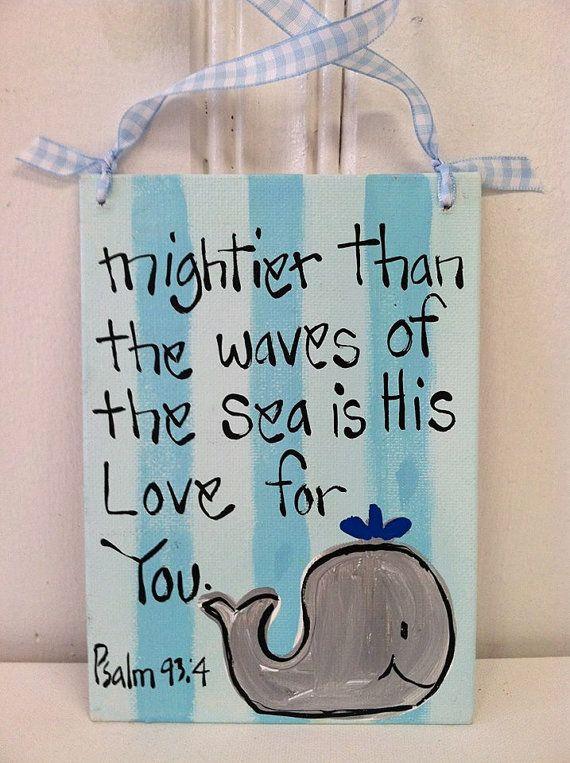 Mightier than the Waves Canvas  Bronwyn by BronwynHanahanArt, $15.00