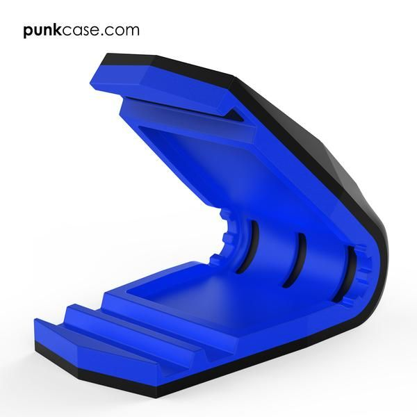 PUNKCASE Viper Car Phone Holder Blue, Universal Dashboard Mount for all Smartphones, Low Profile & Sleek Design, One Hand Operation, Secure Hold even in Hot Temperatures      ★ PUNKCASE VIPER CAR PHONE HOLDER: Low profile & sleek dashboard mount for all smartphones with or without case. VIPER'S powerful clamp will keep you phone securely in place even if it is not centered.
