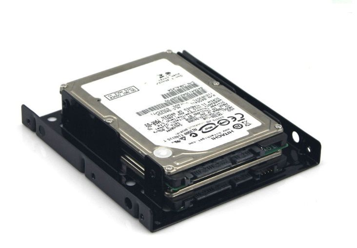 """2.5/""""SSD//Hard Drive to 3.5/"""" Drive Bay Adapter Mounting Bracket HDD Converter Tray"""