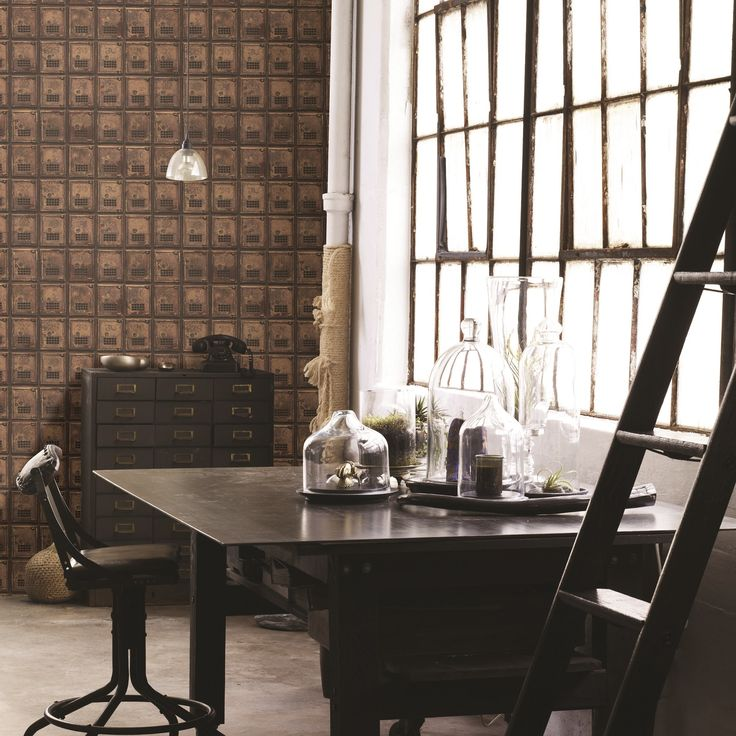 Vintage P.O Boxes in rustic metallic copper can easily create an striking feature wall in an office or study. It's paste the wall too, making it quick and easy to hang.