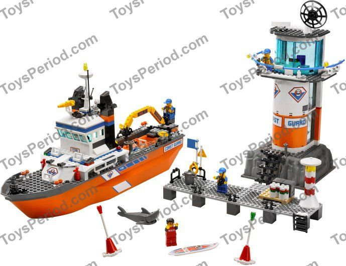 LEGO 7739 Coast Guard Patrol Boat and Tower Set Parts Inventory ...
