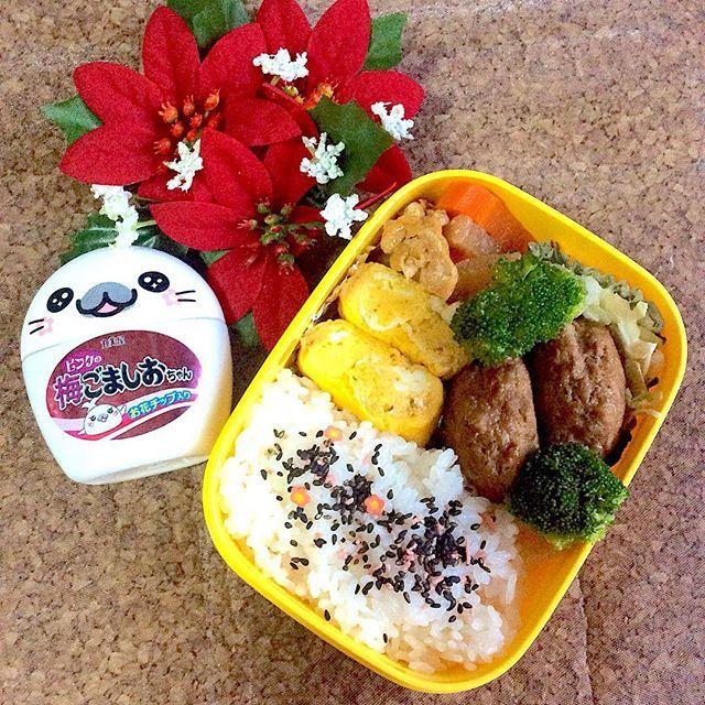 11/16「#hamburg #お弁当 」😆💕 . #goodmorning #おはようございます 🌼 もう直ぐ #クリスマス 〜♬ . 都内ではあちこちで点灯式をしていて、今週末は更に #イルミネーション が楽しめそう! . のんびりお散歩デートとか良いねぇ〜😍💕💕 . 現実戻って今日の #lunchbox はどっかんと #肉 #ハンバーグ に #可愛い梅ごま塩をふった簡単弁当で週の後半も頑張りまっす🍙🍙 . #クッキングラム #おうちごはん #snapdish  #コッコぱっとアンバサダー  #Nadiaアンバサダー  #abcクッキング  #cooking #yummy #happy  #followme #料理好きな人と繋がりたい  #写真好きな人と繋がりたい  #ファインダー越しの私の世界 #和食 #japanesefood