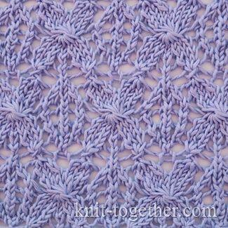 Caramel Lace Pattern, knitting pattern chart, Eyelet and Lace Stitch Patterns