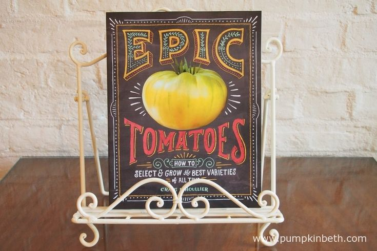 Read my review of Epic Tomatoes - How to Select and Grow the Best Varieties of All Time by Craig LeHoullier at www.pumpkinbeth.com