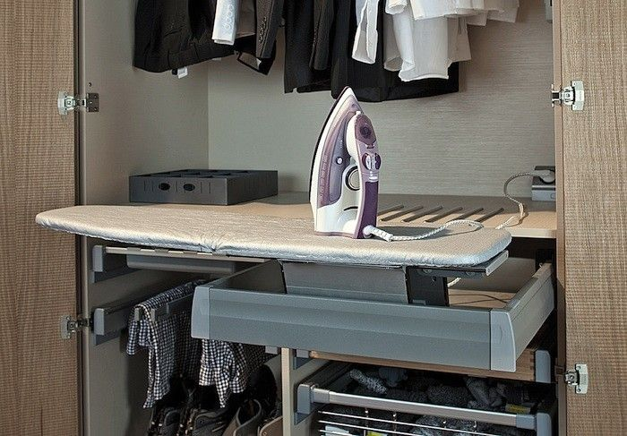 Pullout ironing boards are ideal for small-space living situations. Here are six good options from high to low (installation required).  Above: A cus