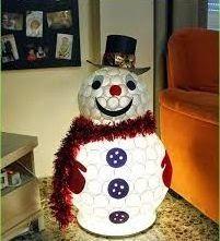 Resultado de imagen para muñeco de nieve portatil