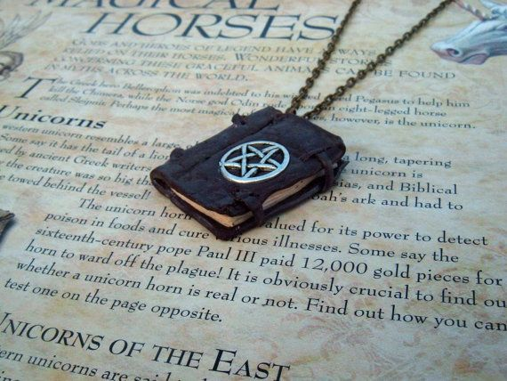 Witches Spell Book Old Worn Miniature Journal by TheSpiralGoddess