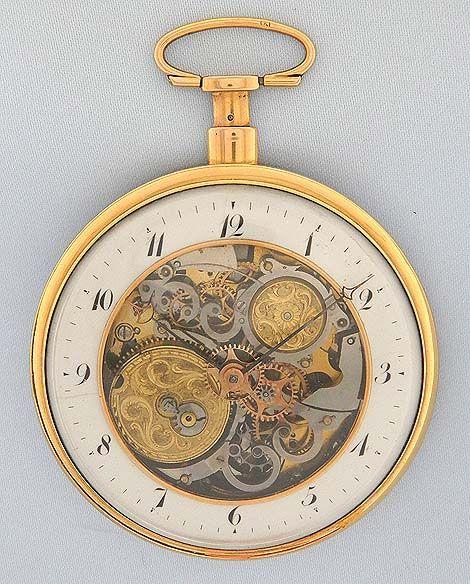 Bogoff Antique Pocket Watches Skeletonized Repeater - Bogoff Antique Pocket Watch # 6807