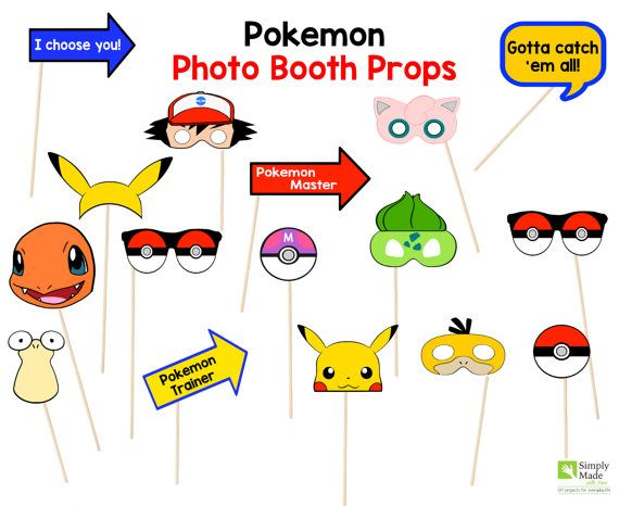 Pokemon Accesorios para Cabina de Fotos por SimplyMadewithSam