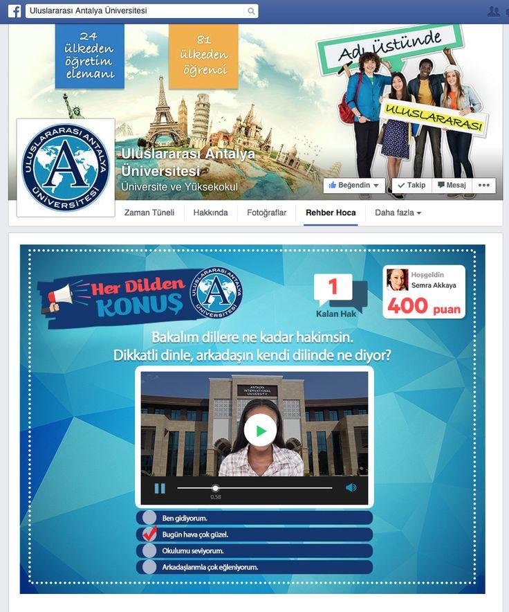 Uluslararası Antalya Üniversitesi /  Oyun Uygulaması - 1