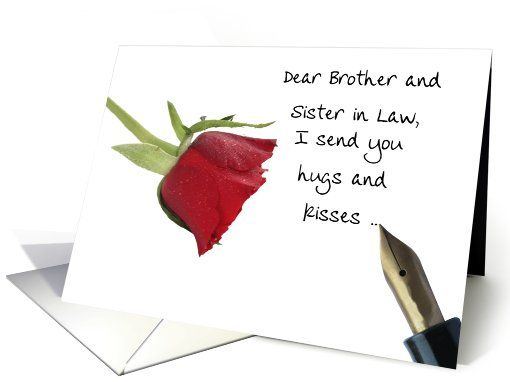 Valentines message to Brother Sister in Law card – Messages for Valentine Cards