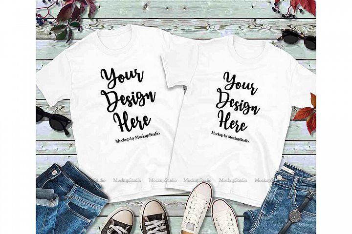 Download Pin By Creative Volt On Designbundles Shirt Mockup Matching Couples Shirts