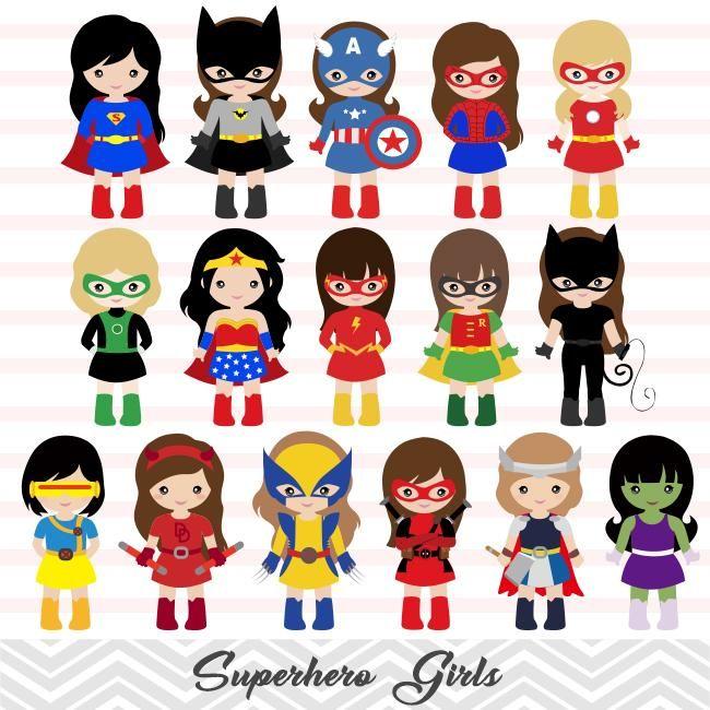 32 Little Girl Superher Digital Clip Art Girls Superhero Clipart Avengers Clip Art 00264 Superhero Clipart Superhero Nursery Girl Superhero