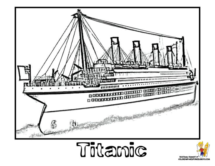 free printable titanic coloring pages coloring page