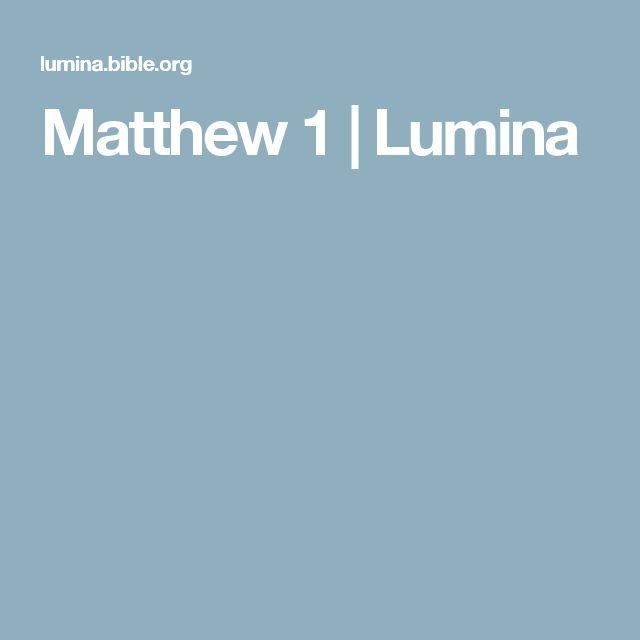 Matthew 1 | Lumina