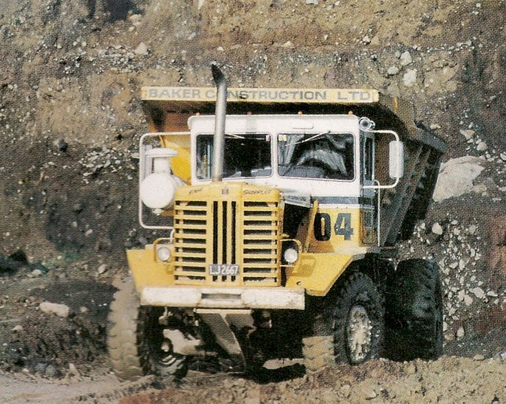 A New Zealand based PayHauler 95B of Baker Construction at work on the Clutha hyrdo scheme in the late 1970s. This machine has the quarry body and optional larger front tires. The rugged no-nonsense appearance of this vehicle is obvious