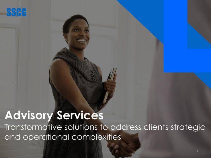 SSCG Advisory Services
