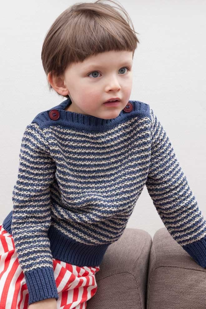 pullover with a nautical feel.