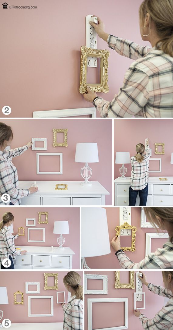 how to make 3 level hanging photo frame