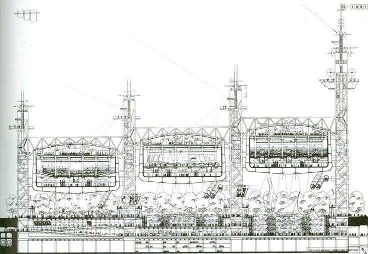 Richard Rogers Partnership | Tokyo Forum Drawing | 1990 ...