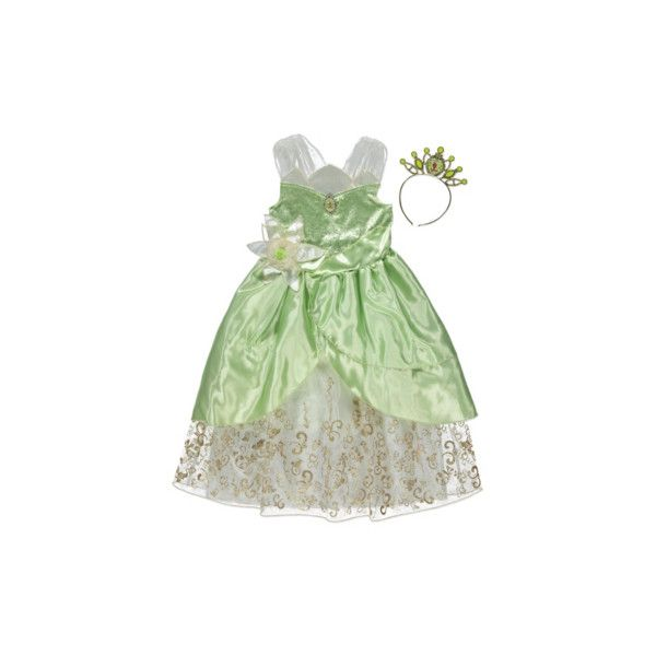 George Disney Princess and the Frog Tiana Fancy Dress Costume (23 AUD) ❤ liked on Polyvore featuring green