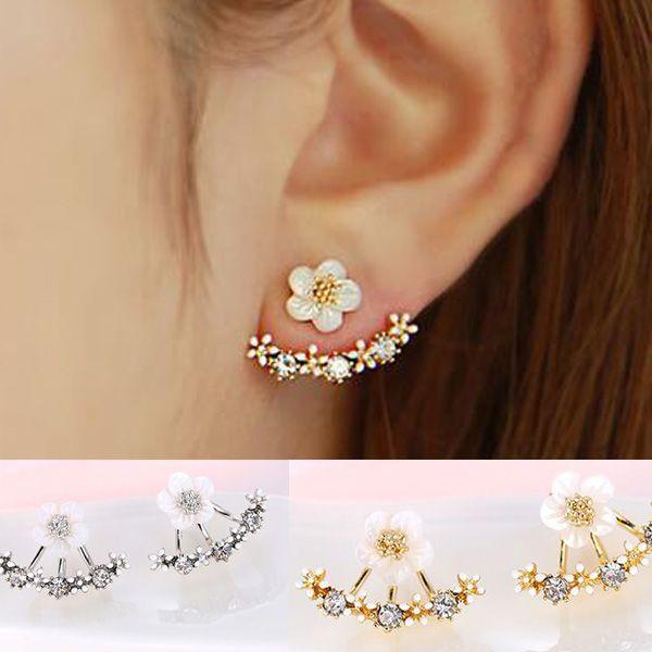 Boucles D'oreilles en cristal Boucle d'oreille Femme De Fleur De Mode Boucles D'oreilles pour les Femmes Or Bijoux Bijoux Brincos Pendientes Mujer