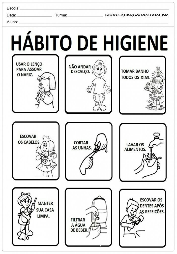 actividades de la higiene para niños