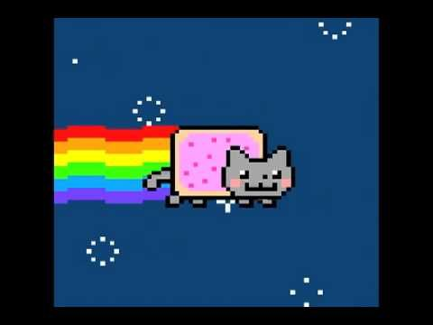 Nyan Cat (Pop Tart Cat) meme ~ my kids love this