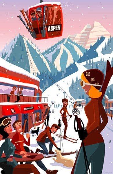 Aspen #retro poster shared by http://www.myskiholiday.com