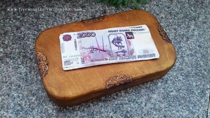 Купить Купюрница-шкатулка Владивосток 2000 - шкатулка, Декупаж, подарок…