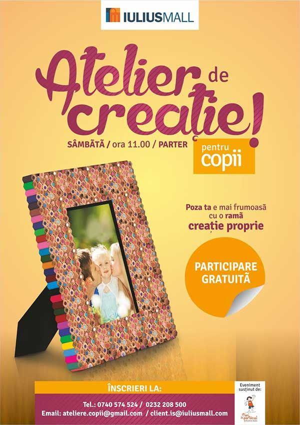 Atelier de creatie pentru cei mici la Iulius Mall