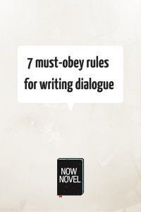 7 must-obey rules for writing dialogue This was actually really helpful. I hate when people say that you should never ever ever use a dialogue tag other than said, but I think that's just boring. I also hate when people say adverbs have no place in a story. This website doesn't say either of those things