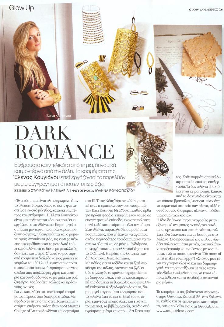 Elena Kougianou Jewellery, Glow Magazine