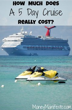 First time cruising? Have you ever wondered how much a 5 day Carnival cruise really costs? I kept track of my expenses to share with you. Check out my trip report detailing our travel expenses and cruise tips on MoneyManifesto.com (Hint: It is much higher than the cruise fare you are initially quoted when shopping).