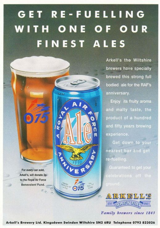 Aviation Magazine Adverts in the Nineties - Think Defence. Beer & warbirds, two of my favourite things together!