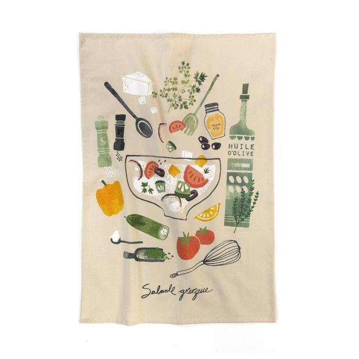 Linge à vaisselle « Salade grecque » 9.99 $